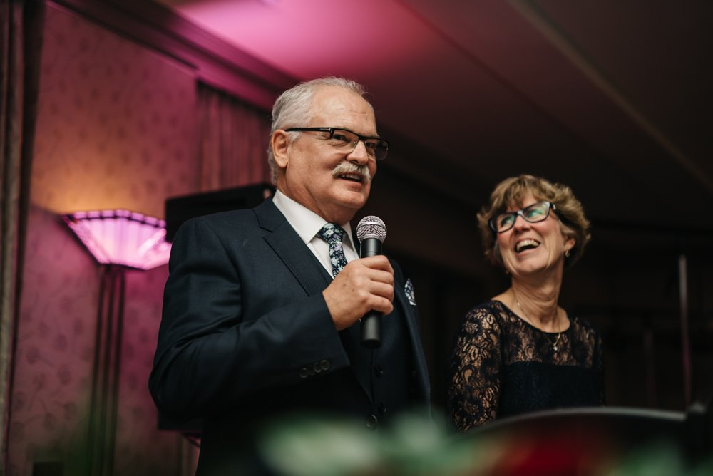 parent speeches at wedding in Banff Alberta