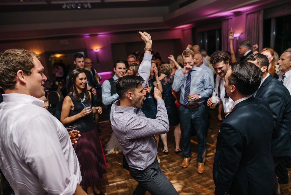 Dance floor party at Banff wedding at the rim rock resort