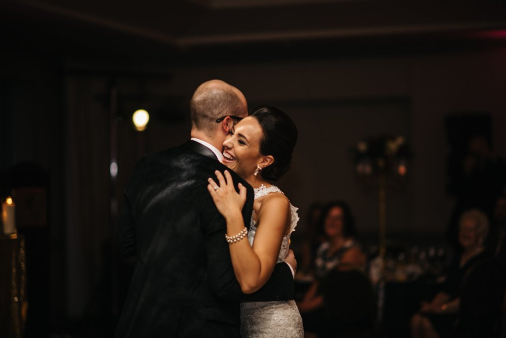 first dance at the rim rock resort in Banff Alberta